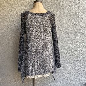 Anthropologie Sweaters - ANTHROPOLOGIE DIPPED LACE KNIT SWEATER